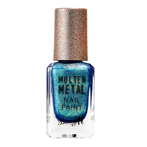 Barry M Cosmetics Molten Metall Nagel Lack–Kristall Blau
