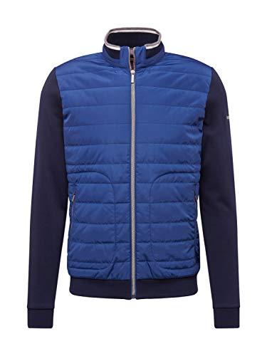 Bugatti Herren 8750-55160 Sweatshirt, Blau (Blue 370), Large (Herstellergröße: L)