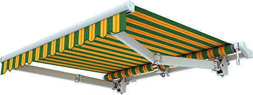 Broxsun Gelenkarmmarkise Acapulco, 1,95 bis 7m, 120 Stoffe Farben, Auslage bis 3,6m, Markise, Breite von 195 bis 290cm, Länge 160cm, Kurbelantrieb manuell