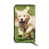 走っている犬 財布 本革 長財布 小銭入れ ジッパー 高級感 おしゃれ 多機能 大容量 収納 カードケース コインケース 男女兼用 人気 誕生日プレゼント