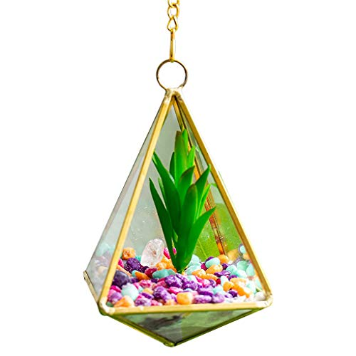 KunmniZ Wall hanging geometric terrarium Modern interior polyhedron pot container space saving home decor warehouse management accessories