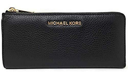 Michael Kors Jet Set Large Three Quarter Zip Around Pebbled Leather Wallet