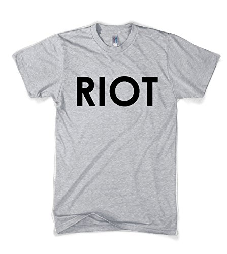 Riot T shirt Funny Shirts for Men Political Novelty Tees Humor,3X-Large,Grey