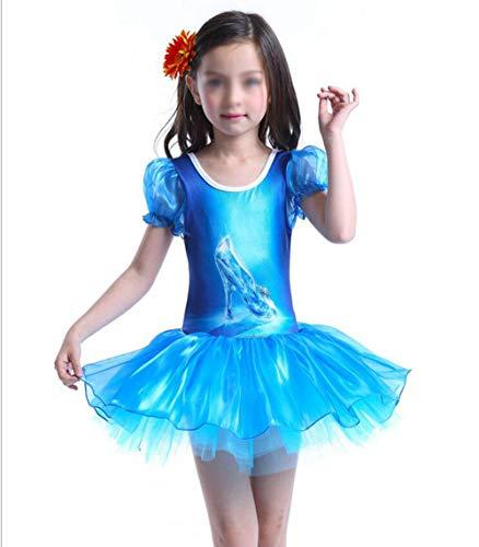 MAOMAFG Halloween Costume Cosplay per Bambina,Danza Abbigliamento Mermaid Ragazze Siamesi Fiancheggiano, Vestiti per Bambini E Balletto Gonna per Bambini,110cm