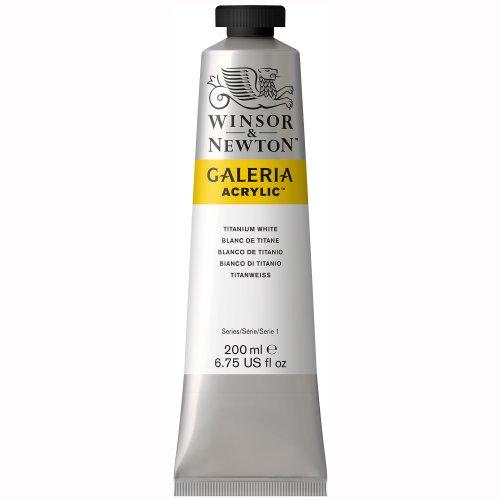 Winsor & Newton , Titanium White Galeria Acrylic Color Tube, 200ml, 200-ml