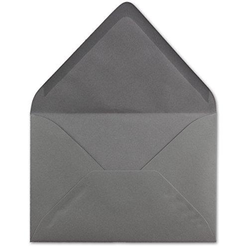 50 DIN C5 Briefumschläge Graphit - 22,0 x 15,4 cm - 110 g/m² Nassklebung Post-Umschläge ohne Fenster ideal für Weihnachten Grußkarten Einladungen von Ihrem Glüxx-Agent