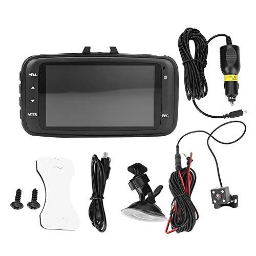 Fydun Fotocamera anteriore Car Dash Camera 2,7 pollici HD 1080P schermo Wifi Dual Lens Camera G-Sensore Parking Recorder Car Video Recorder