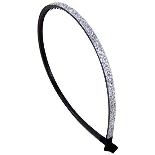 52-208 - Cheveux pour cheveux PVC revêtement paillettes cm 0,5 x cm 13 diamètre - Bulles pour cheveux argent
