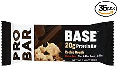 product image for PROBAR - Base 2.46 Oz Protein Bar, Cookie Dough - Gluten-Free, Plant-Based Whole Food Ingredients - Pack of 36