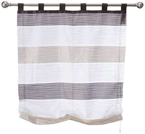 Home fashion - Tenda a rullo con strisce quadrate, motivo GABI, pietra, 130 x 100 cm, 7