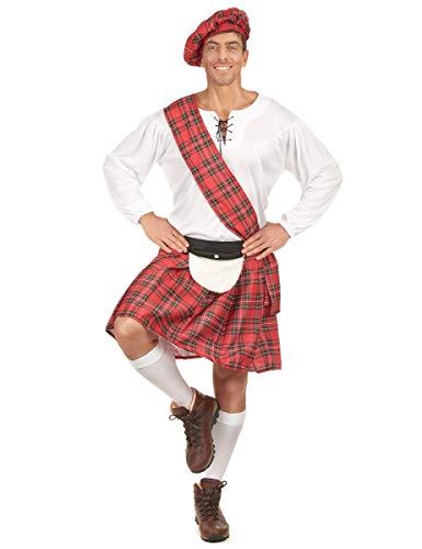 Generique - Déguisement écossais Rouge et Blanc Homme L