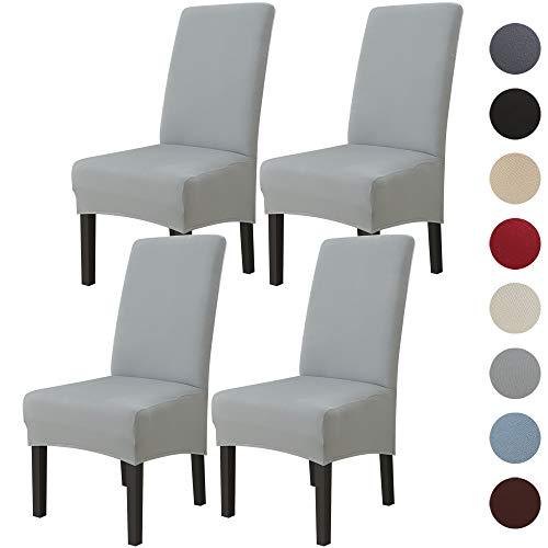 ChicSoleil – Funda de silla XL de comedor extensible elástica – Slipcover – Funda para silla de respaldo alto protector lavable extraíble para hotel, restaurante, decoración de boda 1/2 piezas