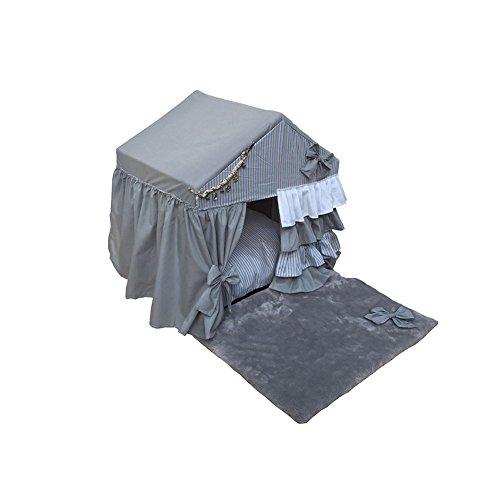 XINGZHE Hundebett-Luxus-Komfort mit Decke für Wärme und Sicherheit-Plüsch-Matratze Haustierbett mit Decke für Wärme und Sicherheit-Haustiere Schlafbereich Höhle Hundebett Haustierbett