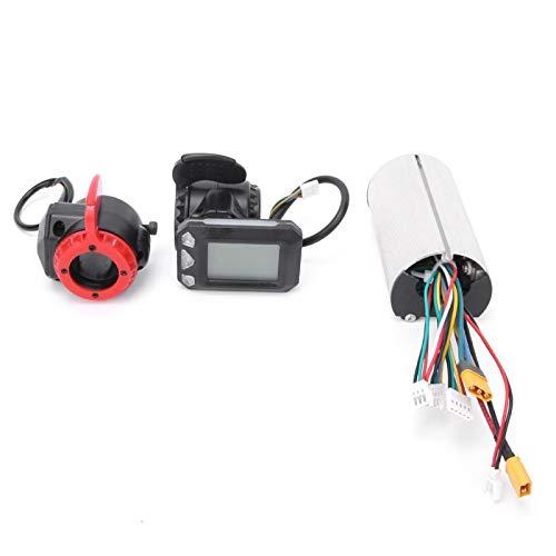 FOLOSAFENAR Soporte de Monitor LCD Controlador de Bicicletas eléctricas a Prueba de Lluvia Controlador de Scooter eléctrico de Pantalla LCD de Fibra de Carbono, para(Controller + Throttle + Brake)