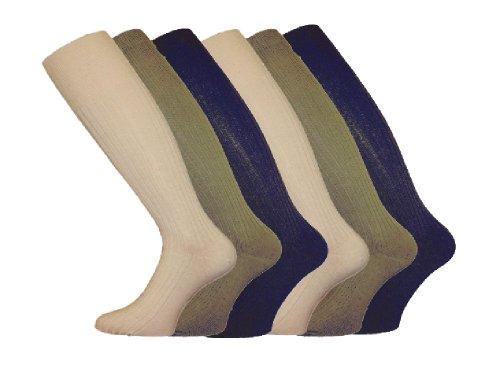 Socks Uwear Chaussettes hautes côtelées en coton pour homme Taille 39-46 Ass Fashion 39-45