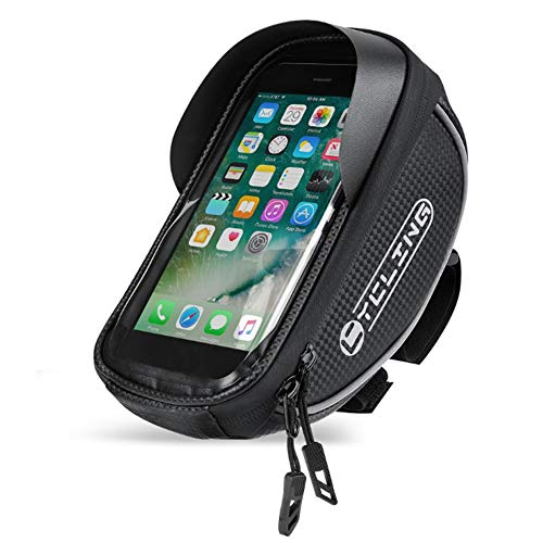 Zuoox Bolsas de manillar de ciclismo, bolsa de marco de bicicleta, MTB con pantalla táctil frontal, bolsas de teléfono para bicicleta