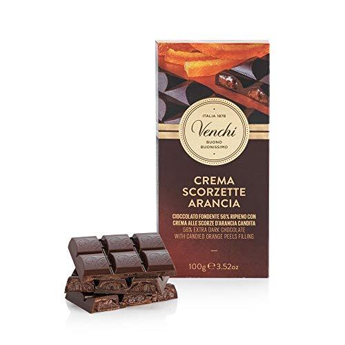 Venchi Tavoletta di Cioccolato Fondente 56% Ripiena all'Arancia 100g - Senza Glutine