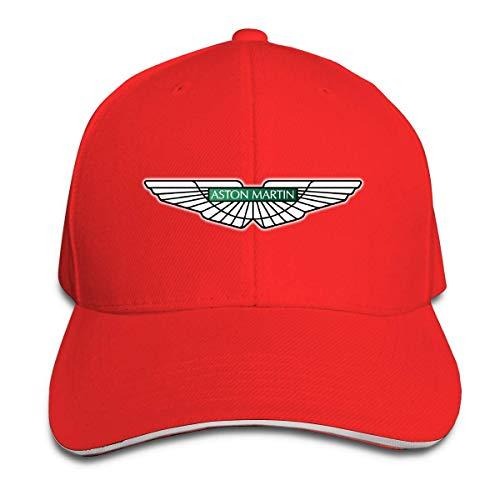 Customized Aston Martin Car Logo Geek 100% Organic Cotton Cricket Cap for Womens Black Sombreros y Gorras