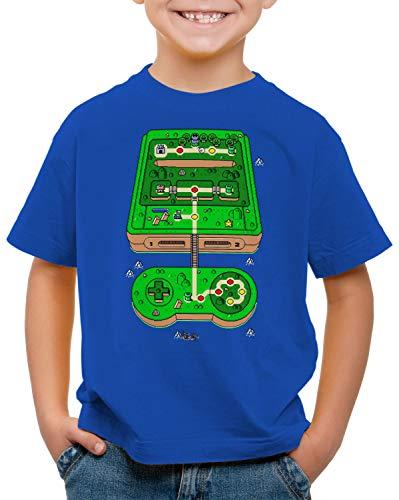 style3 Super Console World Camiseta para Niños T-Shirt SNES videoconsola Pixel Art,...
