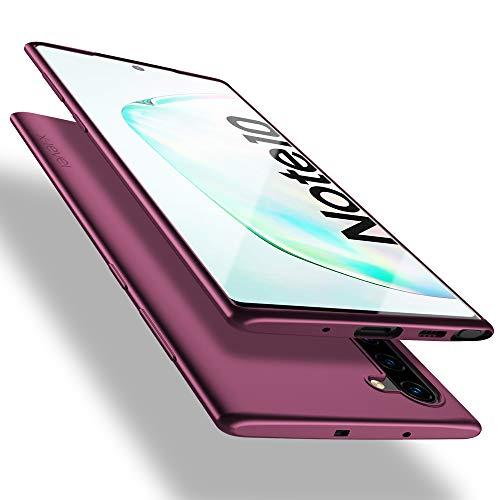 X-level Funda para Samsung Galaxy Note 10, Carcasa para Samsung Galaxy Note 10 Suave TPU Gel Silicona Ultra Fina Anti-Arañazos y Protección a Bordes Funda Phone Case para Galaxy Note 10 - Vino Rojo