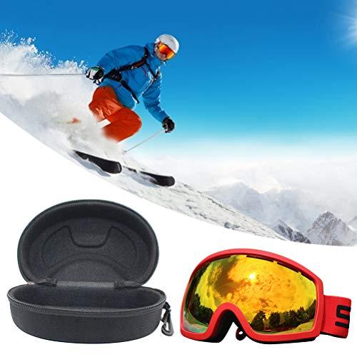 TiKiNi Gafas de esquí, antivaho, protección UV400,gafas de snowboard para hombres y mujeres con funda de gafas, incluye 1 gafas protectoras, 1 caja de almacenamiento