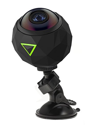 """Navitech 360 Camera Adjustable Rotating Suxction Cup Mountand with 1/4"""" Screw Mount Adapter Compatible with The 360fly 4K Panoramic 360 Degree Action Camera"""