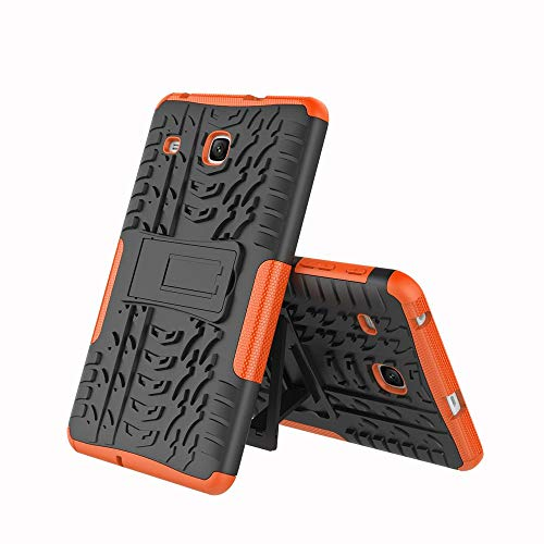 Galaxy Tab E 8.0 Case, Midcas Heavy Duty Dual Layer Hybrid Rugged Reinforced Corners Impact Protection Case Cover with Stand Function for Samsung Galaxy Tab E 8.0' SM-T375/SM-T377 Orange
