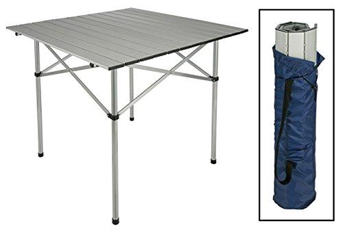 Aluminium Campingtisch, Alutisch, Tisch, eckig, Platte zusammenrollbar