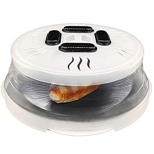 Kuinayouyi Cubierta magnética para microondas con rejillas de ventilación de vapor e imanes. Cubierta para microondas. Tapa anti que mantiene el horno de microondas limpio