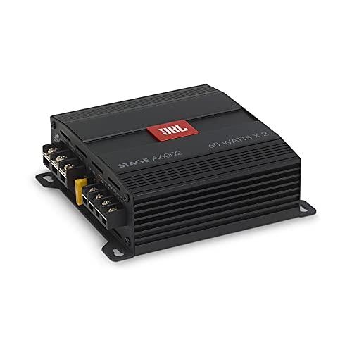 JBL Stage A6002 2-Kanal Endstufe Auto - 2 x 60 Watt KFZ Autoradio Verstärker (280 Watt Max) für 2 Auto Lautsprecher