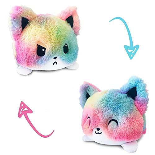 thematys - Pupazzo di peluche reversibile, da utilizzare   Peluche a forma di gatto da 15 cm – Peluche di peluche, reversibile, stile 009