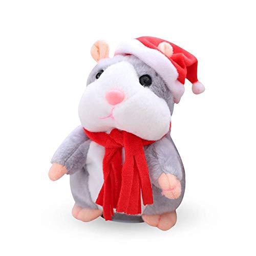 Hamster parlante, mascota mimetista linda El hamster parlante repite lo que dices Repetir Hamster Hablar Hamster Gato de peluche para niños y niñas - (Asiente)