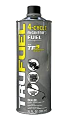 Pre-blended for outdoor power equipment - TruFuel provides the perfect fuel for all 4-cycle For use in 4-cycle engines Specifically for portable gas-powered equipment - convenient, saves time and delivers superior performance Reduced aromatics and co...