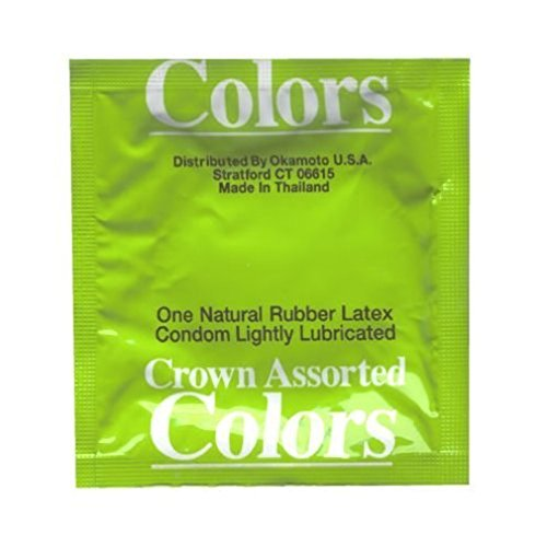 Crown Assorted Colors Condoms 24 Pack