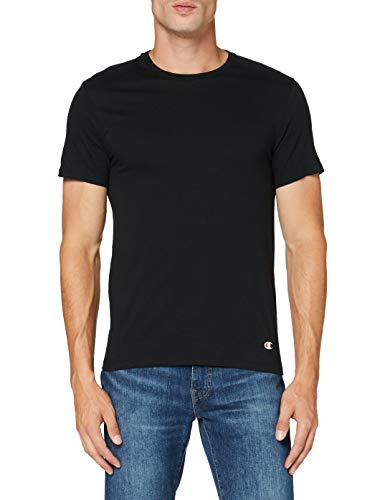 Champion T-Shirt Crew Neck X2 Top Sportivo, Nero (Noir 3am), X-Small (Pacco da 2) Uomo