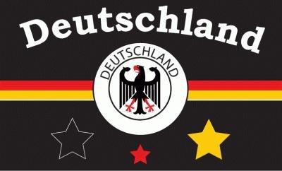 Deutschland Fussballfahne schwarz conv7 Fahne Flagge Grösse 1,50 x 0,90m - FRIP –Versand®