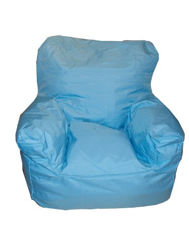 AVANTI TRENDSTORE - Pouf/poltrona blu da bambini per interno/esterno 42x51x50cm