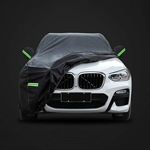 Car-Cover Kompatibel mit Dodge RAM Challenger Charger Hellcat Viper wasserdichte Baumwolle Futter Side Netzeitung Car Cover (Color : Black, Size : RAM)