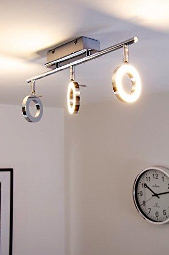 Barre de 3 spots LED orientables - 320 lumen chacun - 3000 Kelvin