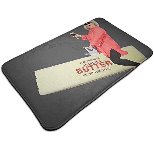 Paula Deen Riding Butter Non Slip Bath Mat,Washable Door Floor Carpet Kitchen Rugs Welcome Mats 19.531.5 Inch