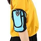 Brazalete para correr, soporte para teléfono con bolsa de brazo para correr, bolsa de brazalete para teléfono celular múltiple para entrenamiento de gimnasio, ejercicio para correr, 2 piezas/juego