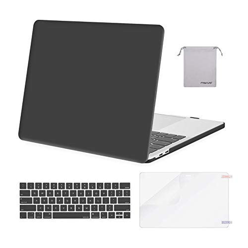 MOSISO Compatible with MacBook Pro 13 inch Case 2020 2019 2018 2017 2016 Release A2338 M1 A2289 A2251 A2159 A1989 A1706 A1708, Plastic Hard Shell&Keyboard Cover&Screen Protector&Pouch, Space Gray
