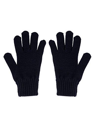maximo Jungen Fingerhandschuh, Strick Handschuhe, Blau (Dunkelmarine 11), 3