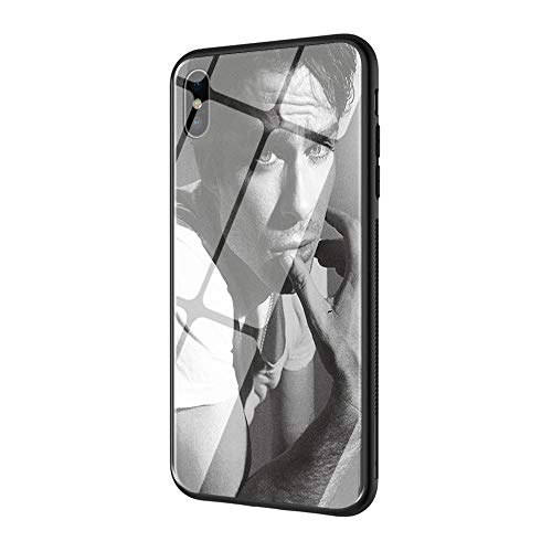DEPING DP-180 The Vampire Diaries Ian Somerhalder Custodia, Cover Posteriore in Vetro temperato e Cover Morbida in Silicone AntiGraffio per iPhone 6/6S Custodia Protettiva
