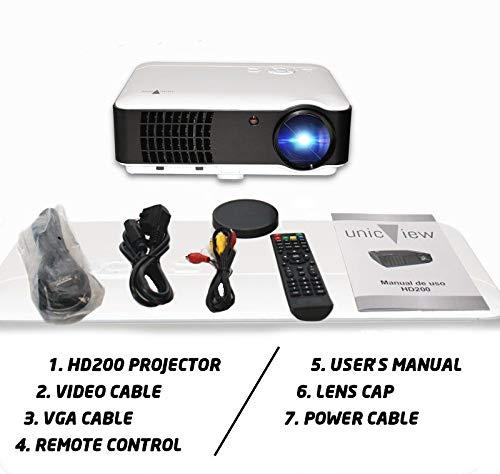 High Unicview 1920 Hd200 Projector With Dvb T Usb Hdmi Vga Resolucion Native Hd 2 Years Warranty Home Cinema Tv Video