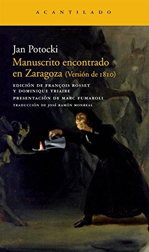Manuscrito encontrado en Zaragoza (Narrativa del Acantilado)
