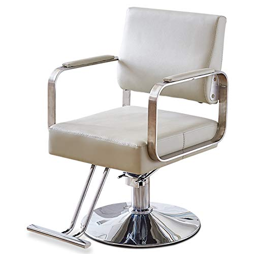 Best Review Of Barber Chair, Heavy Duty Hairdressing Chair Hydraulic Haircut Styling Chair Height Ad...