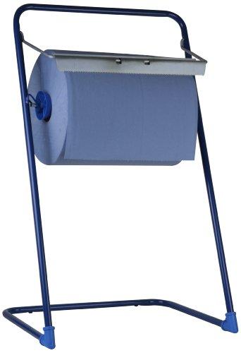 Funny Spender für Putz- und Industriepapierrollen, Metall blau, Rollen bis 40cm breite, 1er Pack (1 x 1 Stück)
