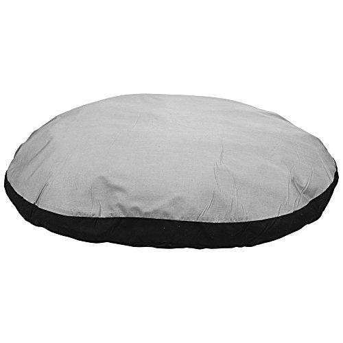 Karlie Kissen oval L: 100 cm B: 75 cm H: 12 cm grau-schwarz