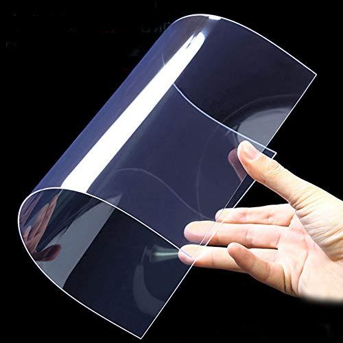 Lámina de gel Lnimikiy, 2 unidades, superposiciones transparentes de colores, delgadas, a prueba de calor, flexible, de PVC, con filtro de iluminación de plástico, Transparente, Tamaño libre